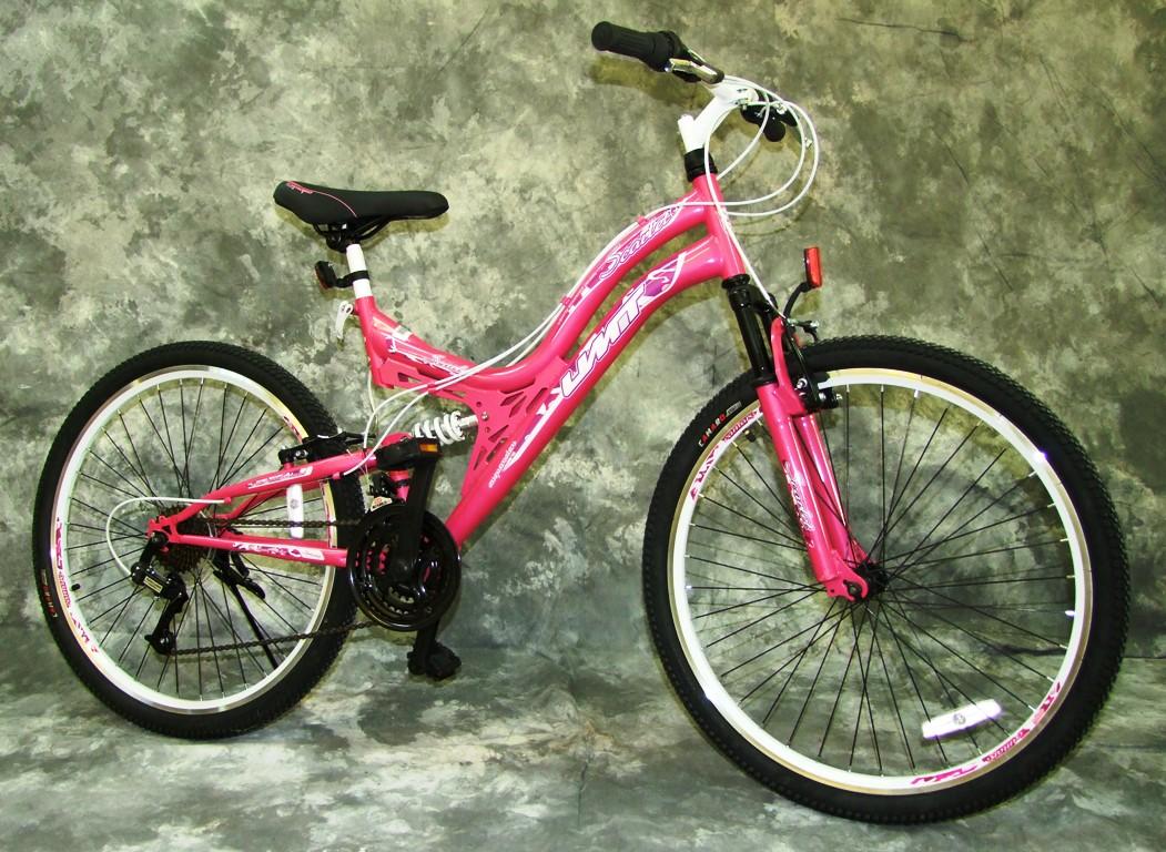 26 zoll damen mountainbike vollgefedert mit 21 gang shimano neu 2640 pink ebay. Black Bedroom Furniture Sets. Home Design Ideas