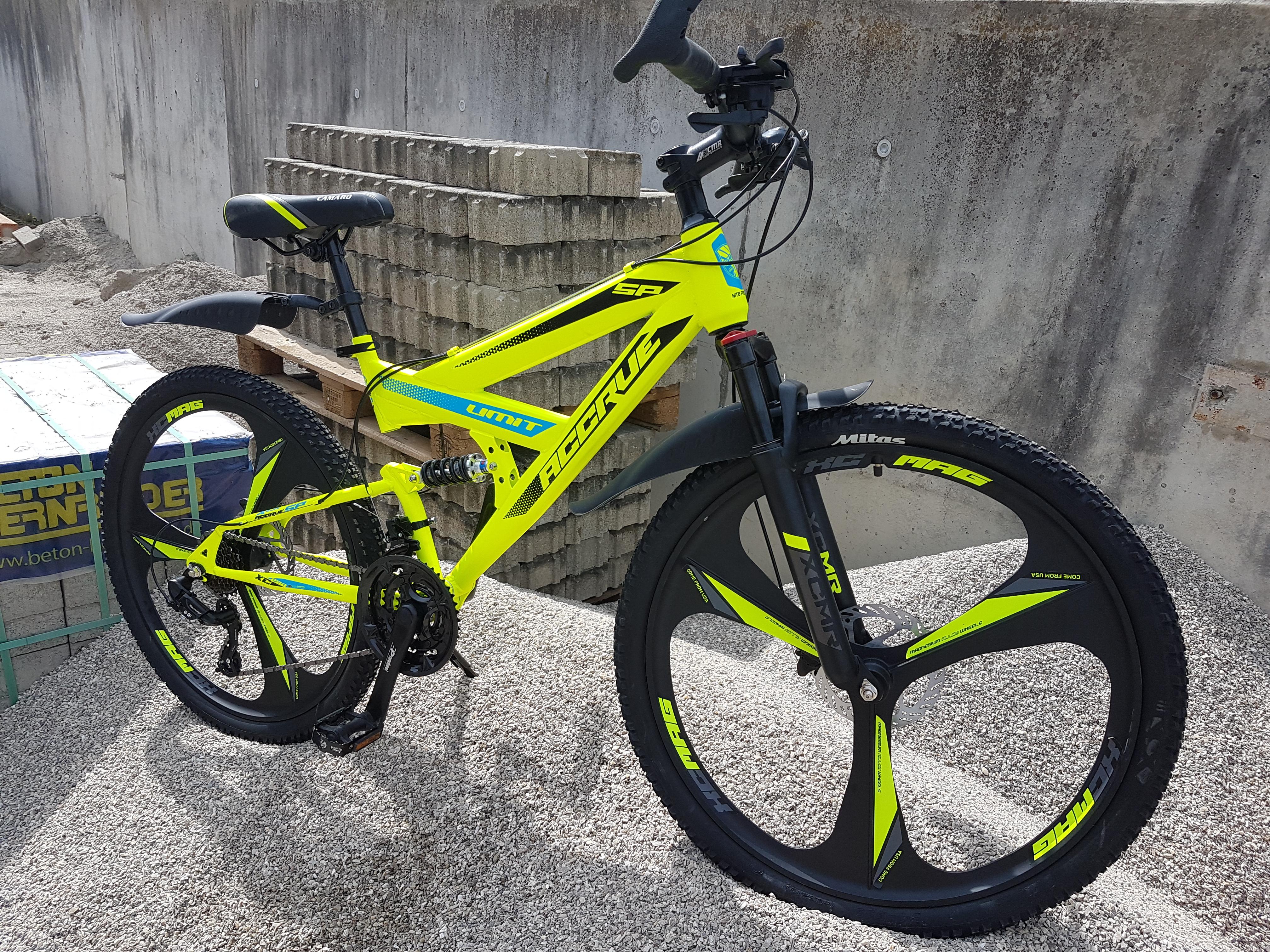 Gelb-Grün Alurahmen 26 Zoll Mountainbike Romet Rambler 6.0 Shimano 21-Gang